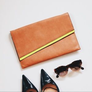Envelope Clutch, tan, vegan leather, NWOT